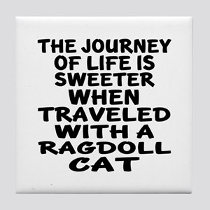 Traveled With Ragdoll Cat Tile Coaster