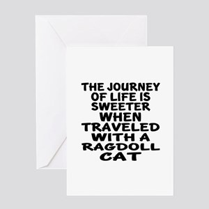 Traveled With Ragdoll Cat Greeting Card