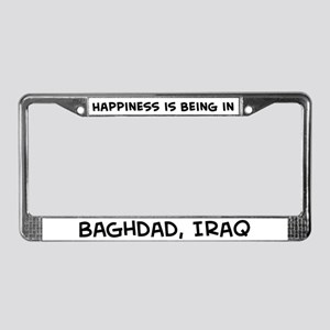 Happiness is Baghdad License Plate Frame