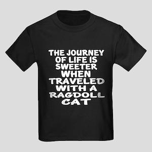 Traveled With Ragdoll Cat Kids Dark T-Shirt
