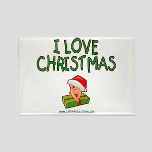 I Love Christmas (baby) Rectangle Magnet