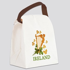 Ireland - Irish Golden Harp Canvas Lunch Bag