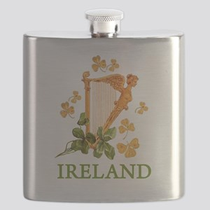 Ireland - Irish Golden Harp Flask