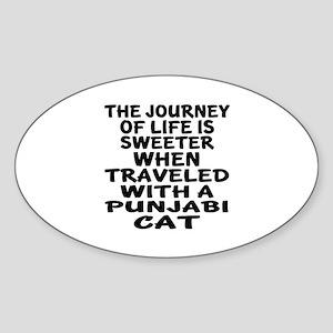 Traveled With punjabi Cat Sticker (Oval)