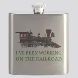 IVE BEEN WORKING ON THE RAILROAD GREEN 2 Flask