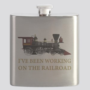 IVE BEEN WORKING ON THE RAILROAD GOLD 2 Flask