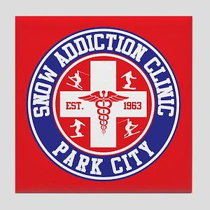 Park City Snow Addiction Clinic Tile Coaster