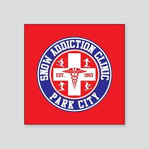 "Park City Snow Addiction Clinic Square Sticker 3"""