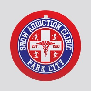 Park City Snow Addiction Clinic Ornament Round