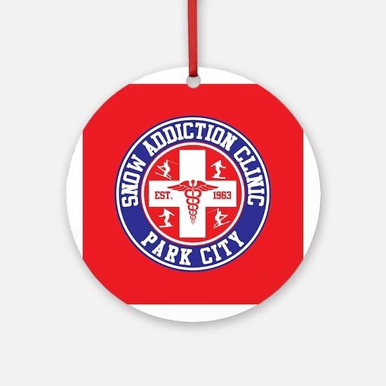 Park City Snow Addiction Clinic Ornament (Round)