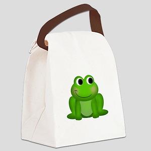 Cute Froggy Canvas Lunch Bag