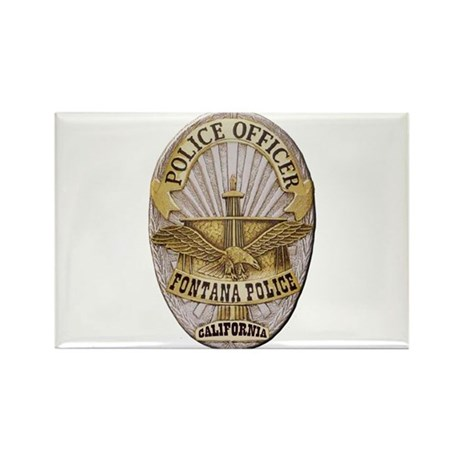 Fontana Police Rectangle Magnet