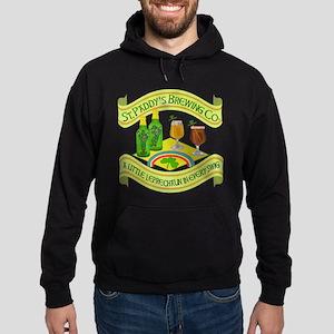 Funny Saint Patricks Day Leprechaun Brewery Hoodie