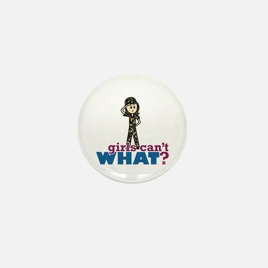 Army Girl Mini Button