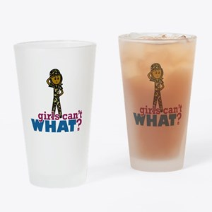 Girl Army Recruit Drinking Glass