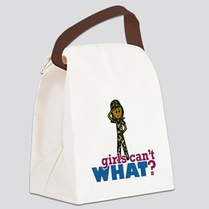 Girl Army Recruit Canvas Lunch Bag