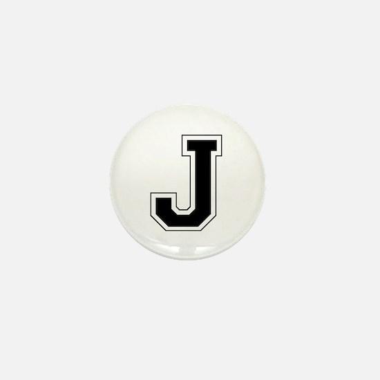 Collegiate Monogram J Mini Button