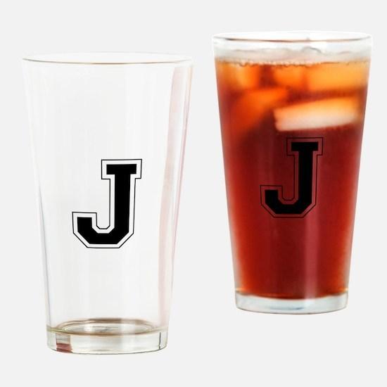 Collegiate Monogram J Drinking Glass