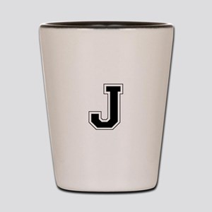 Collegiate Monogram J Shot Glass