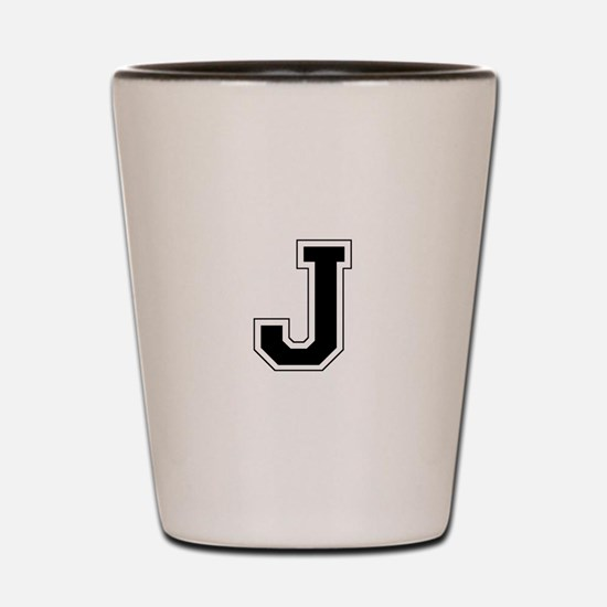 Collegiate Monogram J Shot Glass