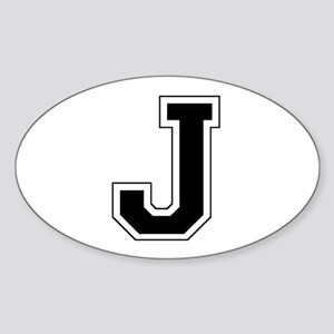 Collegiate Monogram J Sticker