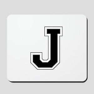 Collegiate Monogram J Mousepad