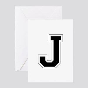 Collegiate Monogram J Greeting Card