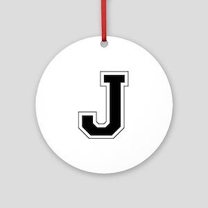 Collegiate Monogram J Ornament (Round)