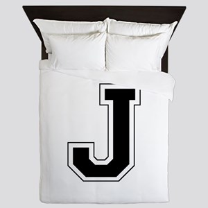 Collegiate Monogram J Queen Duvet