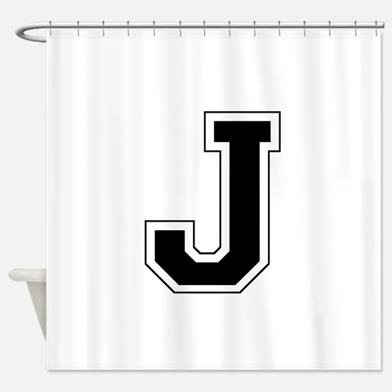 Collegiate Monogram J Shower Curtain