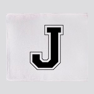 Collegiate Monogram J Throw Blanket