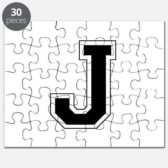 Collegiate Monogram J Puzzle