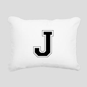Collegiate Monogram J Rectangular Canvas Pillow
