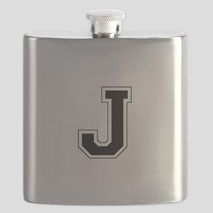 Collegiate Monogram J Flask
