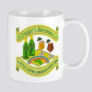 Funny Saint Patricks Day Leprechaun Brewery Mug