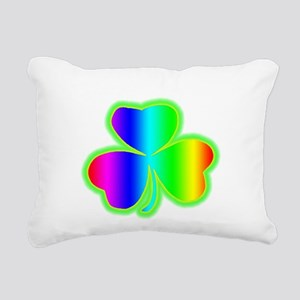 rainbowshamrock Rectangular Canvas Pillow