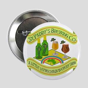 "Funny Saint Patricks Day Leprechaun Brewery 2.25"""