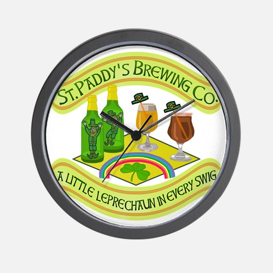 Funny Saint Patricks Day Leprechaun Brewery Wall C