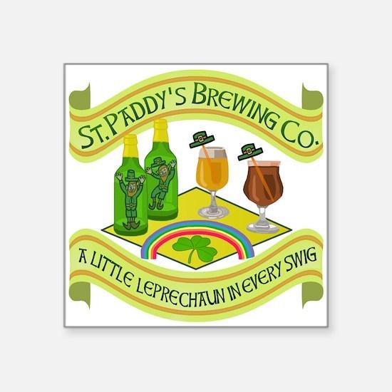 Funny Saint Patricks Day Leprechaun Brewery Sticke