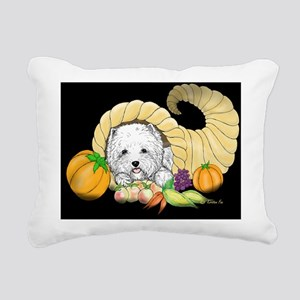Thanksgiving Westie Rectangular Canvas Pillow