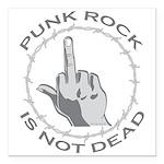 """Punk Rock Is Not Dead Square Car Magnet 3"""" x"""