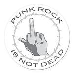 Punk Rock Is Not Dead Round Car Magnet