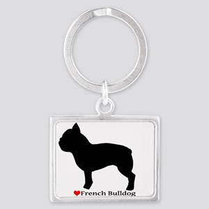 French Bulldog Silhouette Landscape Keychain