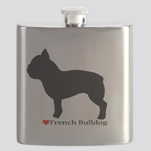 French Bulldog Silhouette Flask
