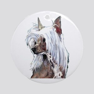 Chinese Crested Portrait Ornament (Round)
