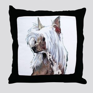 Chinese Crested Portrait Throw Pillow