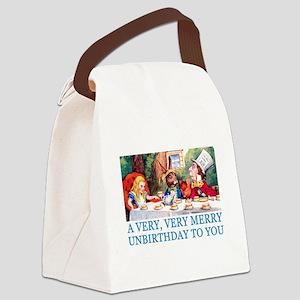 2-ALICE_UNBIRTHDAY_BLUE Canvas Lunch Bag