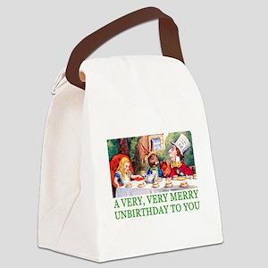ALICE_UNBIRTHDAY_GREEN Canvas Lunch Bag