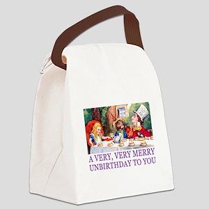 ALICE_UNBIRTHDAY_PURPLE Canvas Lunch Bag
