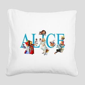 ALICE & FRIENDS IN WONDERLAND Square Canvas Pillow